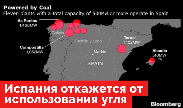 Испания откажется от использования угля