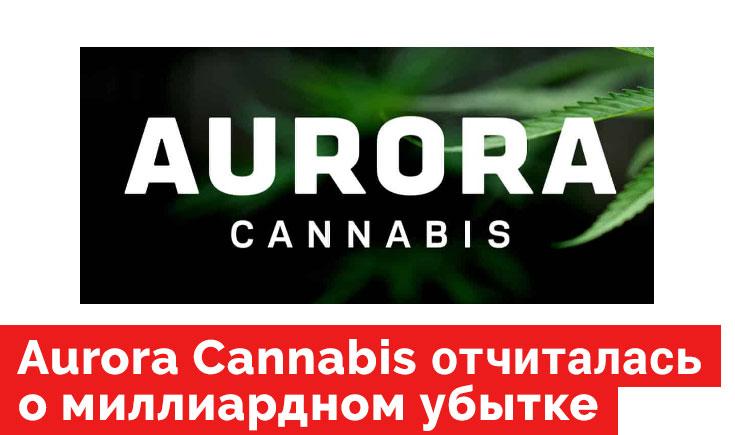 Aurora Cannabis отчиталась о убытке