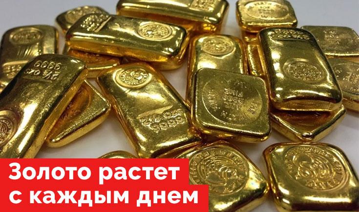 Золото растет с каждым днем