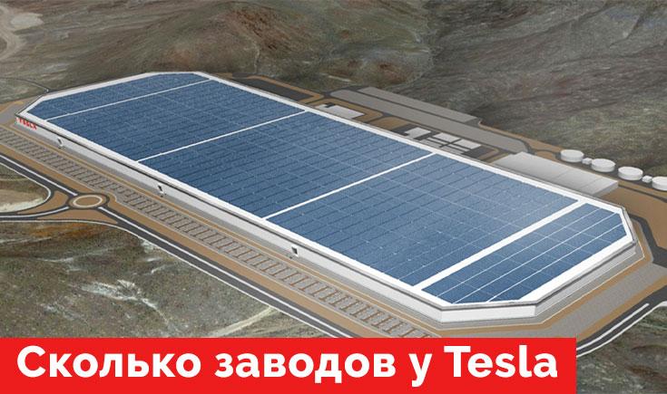 Сколько заводов у Tesla. Все о Gigafactory.